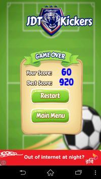 JDT Football Kickers Game apk screenshot