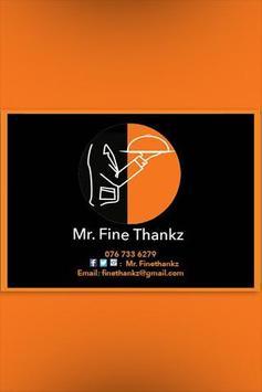 Mr Fine Thankz poster