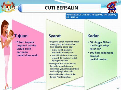 Buku Perintah Am Bab C - Cuti screenshot 3