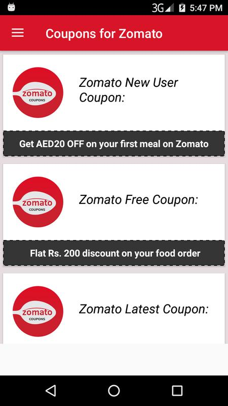 zomato coupon codes
