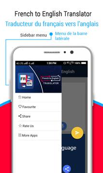French to English Translator ( Learn French ) apk screenshot