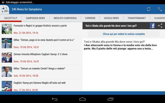 Sampdoria 24h apk screenshot