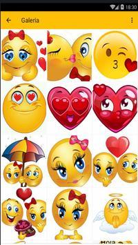 Emoticones de amor apk screenshot
