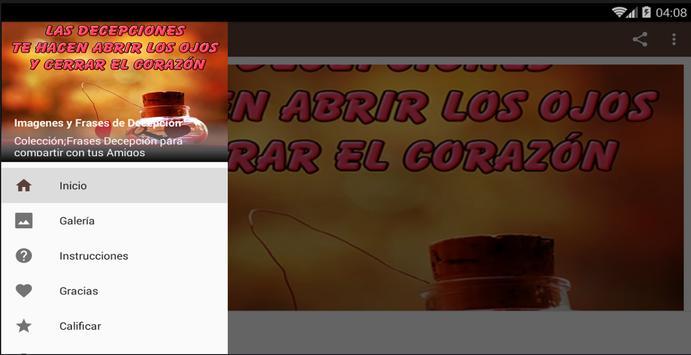 Imagenes y Frases de Decepción apk screenshot