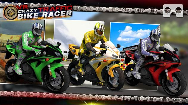 VR Crazy Traffic Bike Racer poster