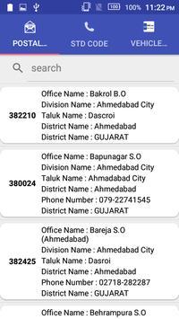 Pincode, Vehicle, STD Finder apk screenshot