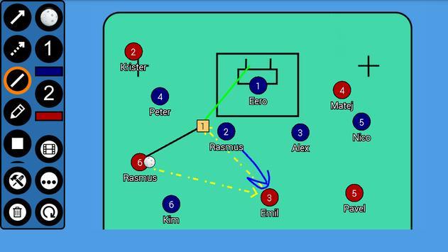 Floorball Tactic Board apk screenshot