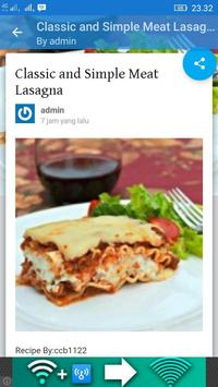 Lasagna Recipe apk screenshot