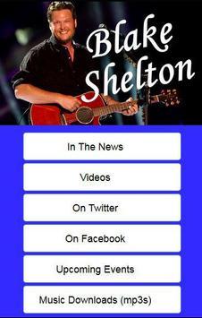 Following Blake Shelton poster