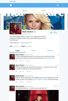 Following Blake Shelton screenshot 3