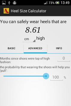 Heel Size Calculator apk screenshot
