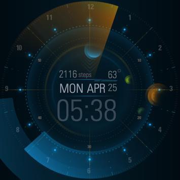 Planetary watch face by Wutron apk screenshot