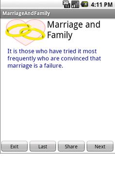 Marriage and Family poster