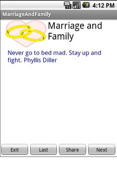 Marriage and Family apk screenshot