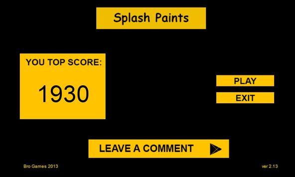 Splash Paints 2 poster