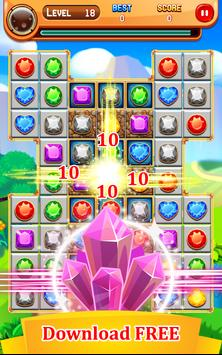 Jewel Blitz 2018 - Classic Jewel Match 3 Game! poster