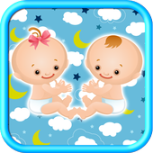 Children Twins Sharing icon