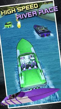 Xtreme Boat Rush:Top Speed Boat Racing 3D poster
