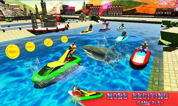 Water Jet Ski Race & Shark poster