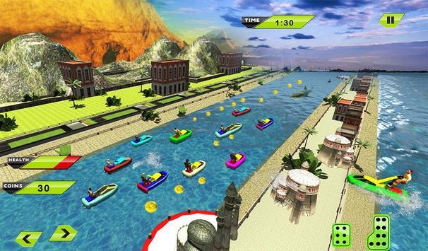 Water Jet Ski Race & Shark screenshot 14