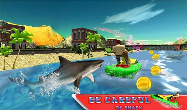 Water Jet Ski Race & Shark screenshot 12