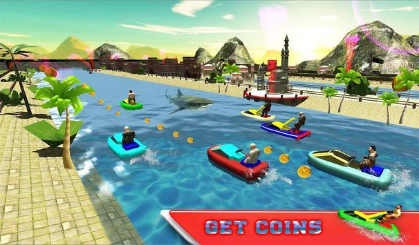 Water Jet Ski Race & Shark screenshot 13