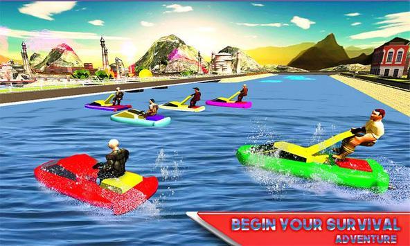 Water Jet Ski Race & Shark screenshot 1