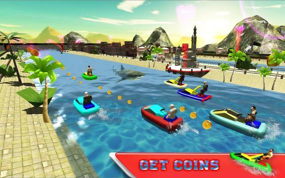 Water Jet Ski Race & Shark screenshot 8