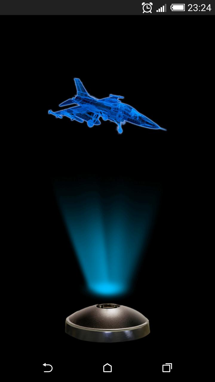 Jet Fighter Aircraft Hologram 3D Projector for Android - APK Download