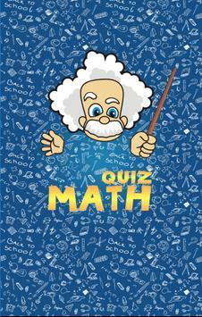 Math quiz : True or False poster