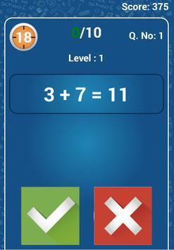 Math quiz : True or False screenshot 2