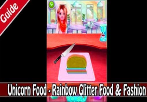 Unicorn Food - Rainbow Glitter Food (giude) screenshot 3