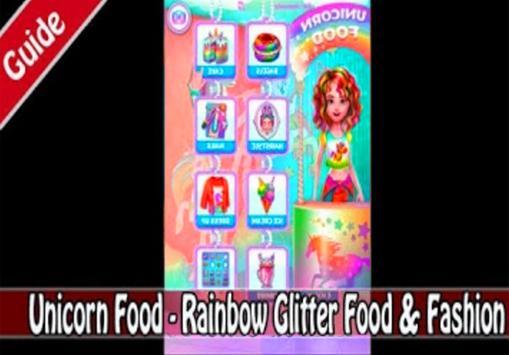 Unicorn Food - Rainbow Glitter Food (giude) poster