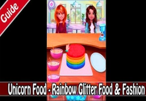 Unicorn Food - Rainbow Glitter Food (giude) screenshot 10
