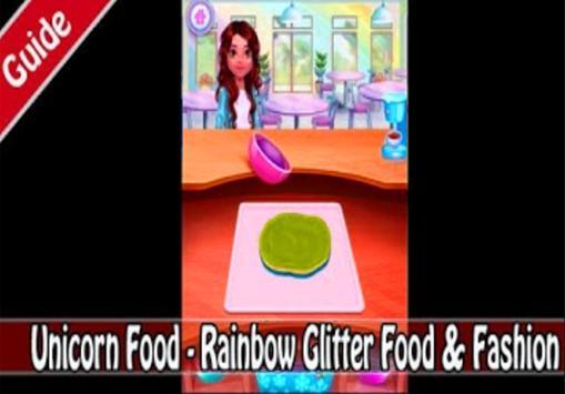 Unicorn Food - Rainbow Glitter Food (giude) screenshot 9