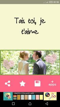رسائل حب بالفرنسية للعشاق screenshot 1