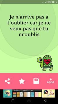 رسائل حب بالفرنسية للعشاق screenshot 4