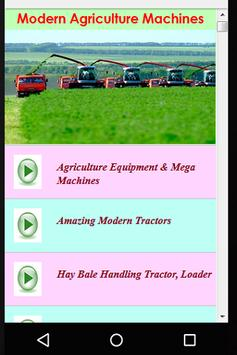 Modern Agriculture Machines poster