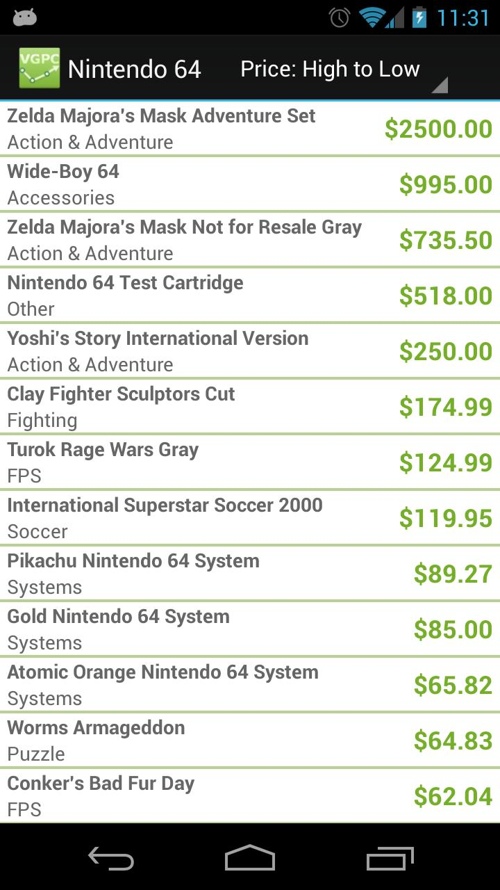 Video Game Price Charts for Android - APK Download