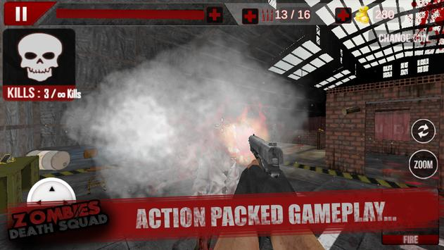 Zombies Death Squad : Dead Zombie Attack Shooter screenshot 9