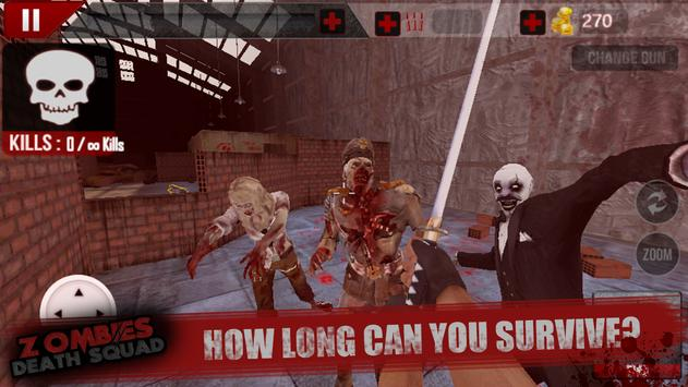 Zombies Death Squad : Dead Zombie Attack Shooter screenshot 12