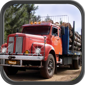 Mountain Wood Cargo Trucker 3D : Truck Games 2018 icon