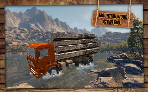 Mountain Wood Cargo Trucker 3D : Truck Games 2018 apk screenshot