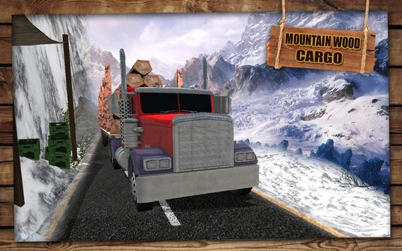 Mountain Wood Cargo Trucker 3D : Truck Games 2018 poster