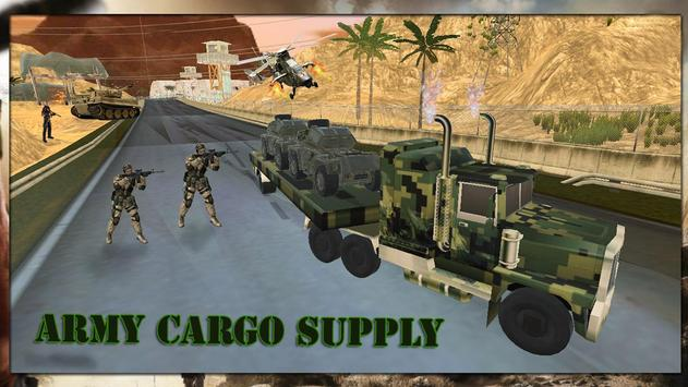 Desert Army Cargo Supply Truck:Military Cargo Duty apk screenshot