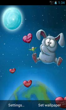Live Wallpaper Rabbit Balloon poster