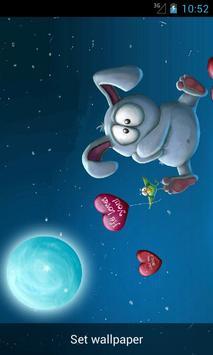 Live Wallpaper Rabbit Balloon apk screenshot