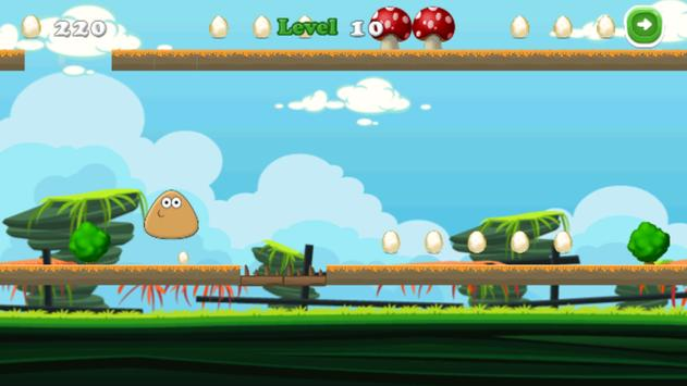 Egg Pou jumper apk screenshot