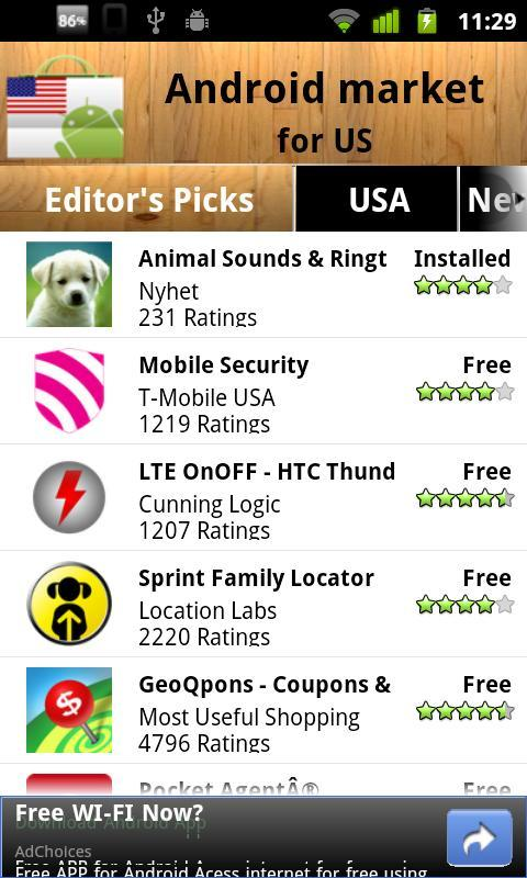 USA Android Market for Android - APK Download