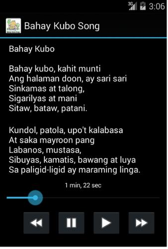 Philippines Bahay Kubo Song APK Download - Free Education APP for ...
